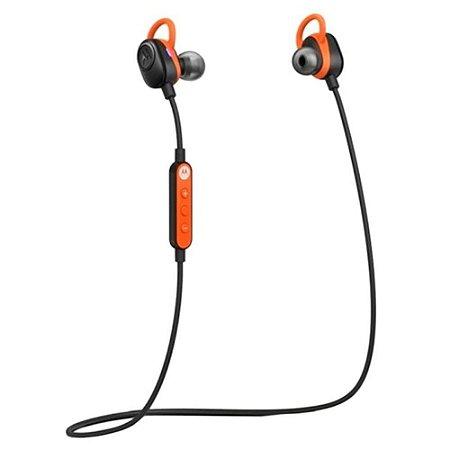 Fone de ouvido Motorola Verve Loop Bluetooth Prova D'agua Preto com Laranja  - Motorola