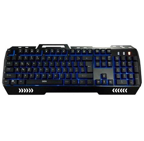 Teclado Gamer Oex Game Fusion 3 Cores Abnt2 TC-204 Preto - Oex