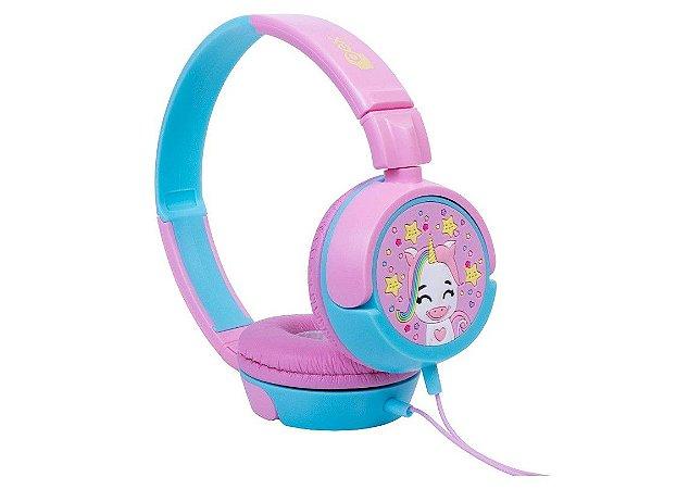 Fone De Ouvido Infantil Unicórnio Rosa HP304 - Oex