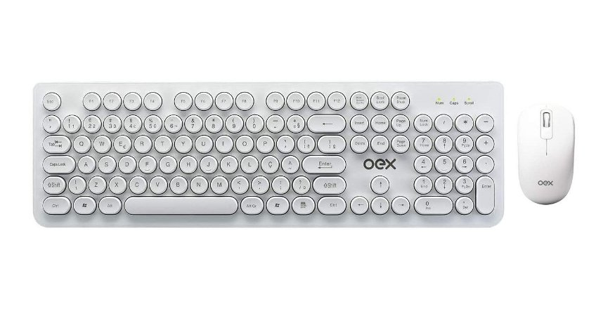 Kit Teclado e Mouse Combo Pop TM410 Abnt2 Usb Branco - Oex