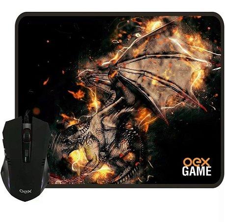 Combo Gamer Arena MC102 Mouse Gamer 2400Dpi com Mousepad - Oex