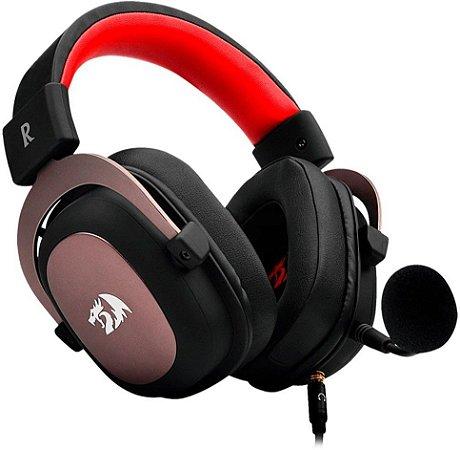 Headset Gamer Redragon Zeus 2 Som Surround Drivers 53mm Preto e Vermelho - Redragon