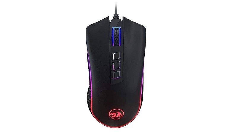 Mouse Gamer Redragon Cobra FPS, 24000 DPI, RGB, 8 Botões Programáveis, Preto M711-FPS - Redragon