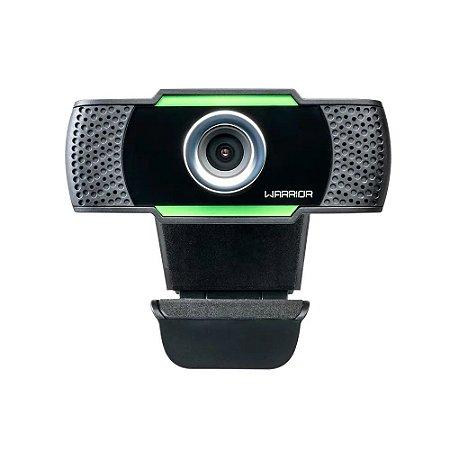Webcam Gamer Warrior Maeve, Full HD 1080p, 30 FPS, Preto e Verde, AC340 - Warrior