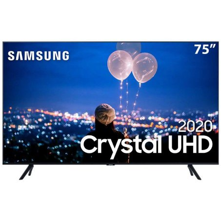 Smart TV Led 75pol UHD 4K 75TU8000 Crystal Borda Infinita Alexa Built In - Samsung