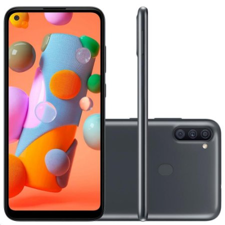 Smartphone Samsung Galaxy A11 SM-A115MZKSZT64GB Dual Chip Android 10 Câmera Tripla 13MP+5MP+2MP - Preto - Samsung