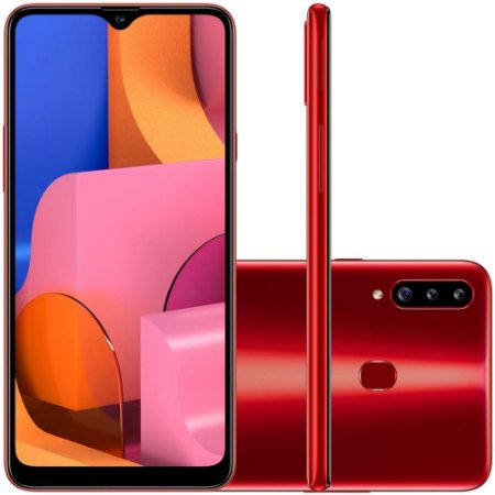 Smartphone Samsung Galaxy A20s, 32GB, 13MP, Tela 6.5´, Vermelho - SAMSUNG
