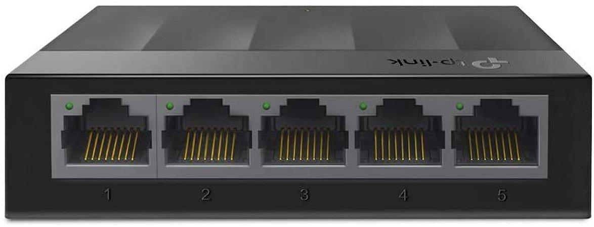 Switch 5 Portas TP-Link LiteWave LS1005G GIGABIT 10/100/1000Mbps Case Plastico - TP-Link
