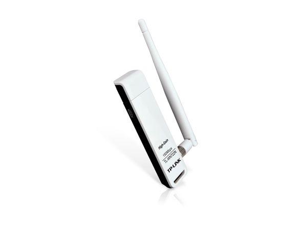 Adaptador USB Wireless N de Alto Ganho de 150Mbps TL-WN722N V3 - TP-Link
