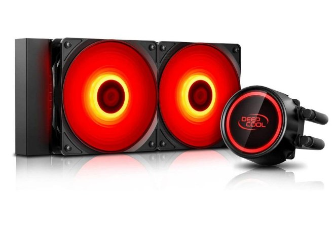 Water Cooler Gammaxx L240T Red 240mm LED Vermelho Selado Anti-Vazamentos - DP-H12RF-GL240TR - DeepCool