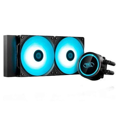 Water Cooler DeepCool Gammaxx L240T Blue 120mm Led Azul - GAMMAXX L240T - DeepCool