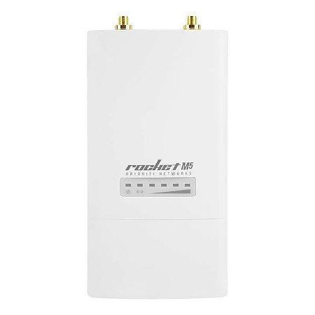 Rádio Ubiquiti Rocket M Airmax 5GHZ MIMO 2x2 150+Mbps 1/10/100 Ethernet com fonte M5 - Ubiquiti