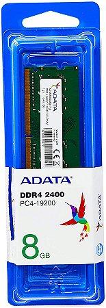 Memória Ram 8gb DDR4 2400mhz para Notebook AD4S240038G17S - Adata