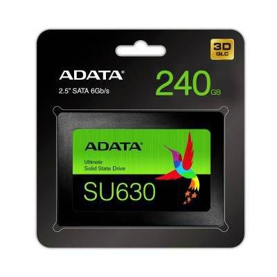 SSD Adata SU630 240gb Sata III Leitura 520Mbs Gravação 450Mbs ASU630SS-240GQ-R - Adata