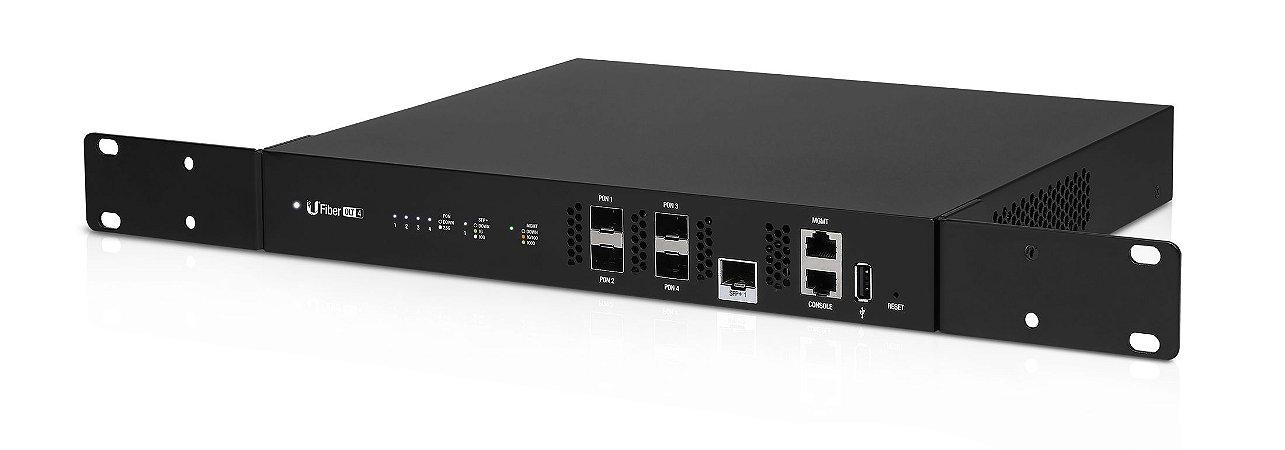 OLT GPON Ubiquiti Ufiber 4 Portas 1SFP+ 10Gbps 512 ONUs  40W UF-OLT-4 - Ubiquiti
