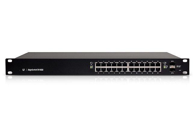 Switch Ubiquiti 24 Portas 10/100/1000 Mbps POE Edgeswitch Es-24-250W BR - Ubiquiti