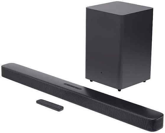 Soundbar JBL Bar 2.1 Deep Bass Preta 300W de Potência Com Bluetooth JBLBAR21DBBLKBR - JBL