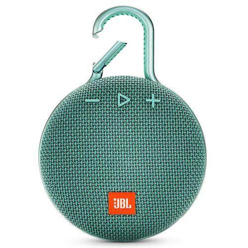 Caixa de Som Bluetooth Clip 3 Teal à Prova d´Água - JBL