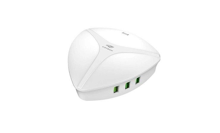 Carregador Universal AC/USB Quick Charge 3.0 UC-Q630WH - C3Tech