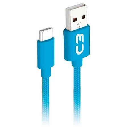 Cabo USB - USB C 1M 2A CB-C11BL - C3TECH