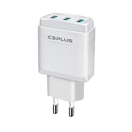Carregador Universal AC/USB 3,1A UC-30WHX C3Plus - C3Tech