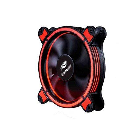 Kit Cooler Fan C3Tech F7-L500RGB, 2 Coolers 12CM LED RGB, 1 Módulo Controlador, 1 Controle, 1 Barra de Led - C3Tech