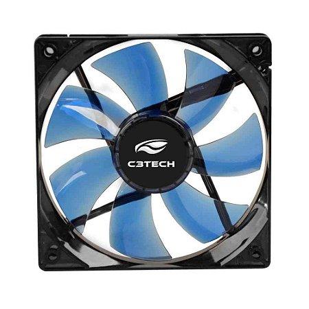 Cooler Fan C3Tech Storm F7-L100BL, 12CM LED Azul - C3Tech