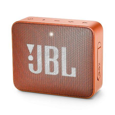 Caixa Bluetooth JBL GO2 Laranja Prova d'Água - JBL