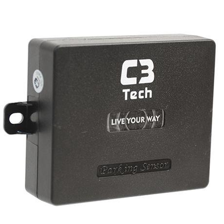 Sensor de Estacionamento com câmera PS-4301C BK preto - C3TECH