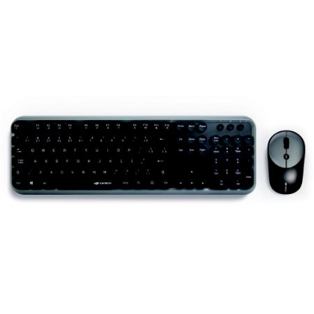 Kit Mouse e Teclado sem Fio K-W200BGY - C3TECH