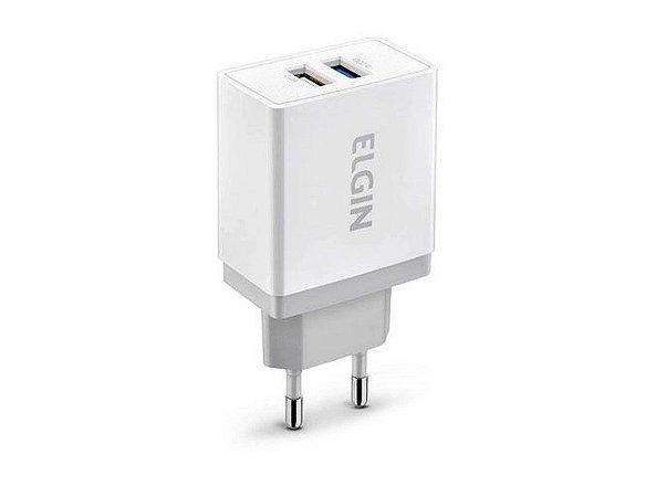 Carregador USB para Tomada Relâmpago 2 Saídas - Elgin