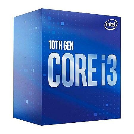 Processador Intel Core I3-10100 Comet Lake 3.60 GHZ (OC 4.30 Ghz) 6mb LGA 1200 BX8070110100 - Intel