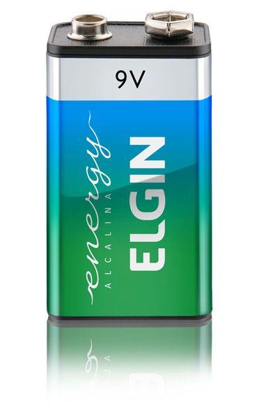 Bateria 9V Alcalina 6LR61 (blister com 1) - ELGIN