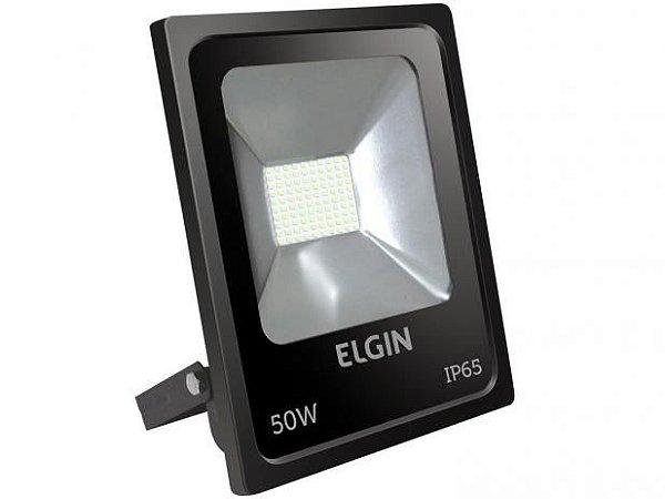 Refletor Power Led 50W Preto Sem Sensor Bivolt - Elgin
