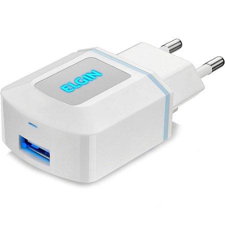Carregador USB para tomada 1.0A bivolt 5W - ELGIN