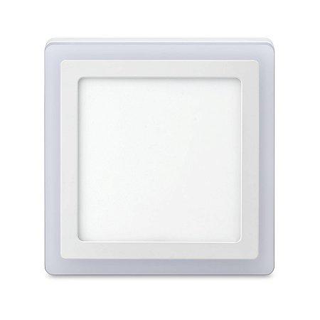 Luminária sobrepor 3 estágios quadrado 18w+6w 6500k+3000k 48D186WSQBM0 - ELGIN