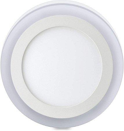 Luminária Sobrepor Elgin 3 Estágios Redonda 18w+6w 6500K+3000K 48D186WSRBM0 - Elgin