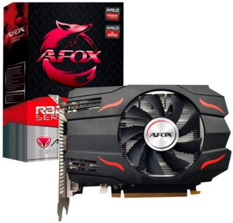 Placa de Vídeo Afox AMD Radeon RX 550, 4GB, DDR5, 128 Bits, DVI, HDMI, DP, AFRX550-4096D5H - Afox