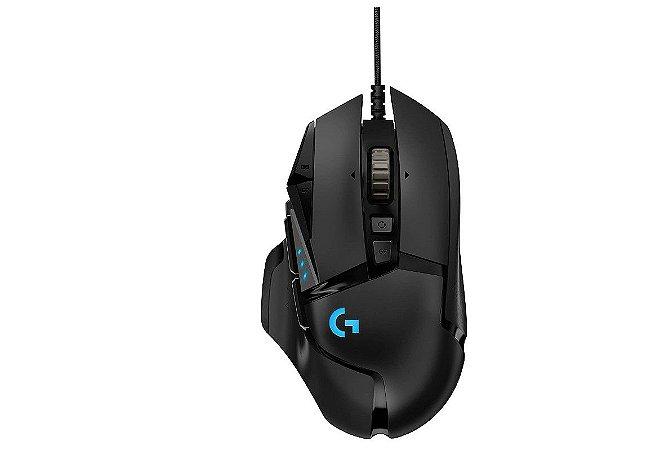 Mouse Gamer RBG Ajustável G502 Hero - Logitech