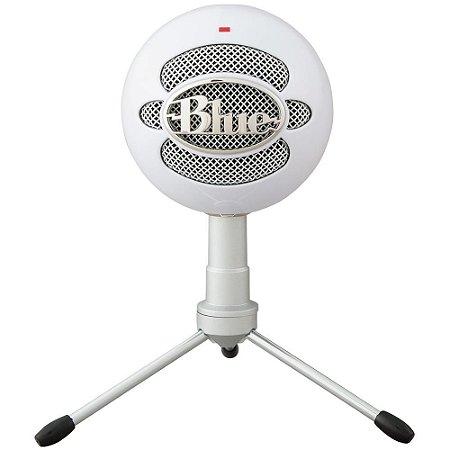 Microfone Condensador USB Blue Snowball Ice Branco - Logitech