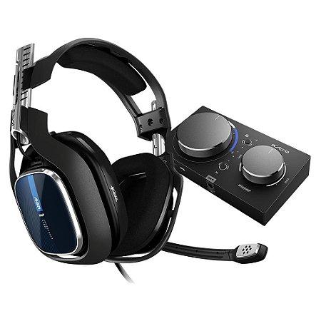 Headset ASTRO Gaming A40 TR + MixAmp Pro TR Gen 4 com Áudio Dolby Compatível PS4, PC, Mac - Logitech