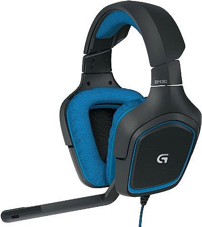 Headset para jogos G430 Surround 7.1 - Logitech
