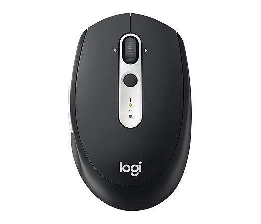Mouse Sem Fio Logitech M585 Multi-Device Tecnologia Flow Unifying Preto 1000DPI - Logitech
