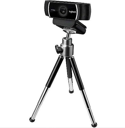Webcam Logitech Pro Stream C922 Full HD 1080p 30fps 720p 60fps com Tripé - Logitech