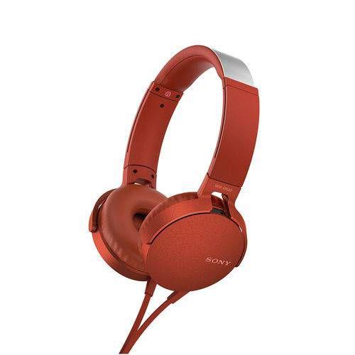 Headphone Sony Mdr-xb550ap Com Extra Bass - Vermelho