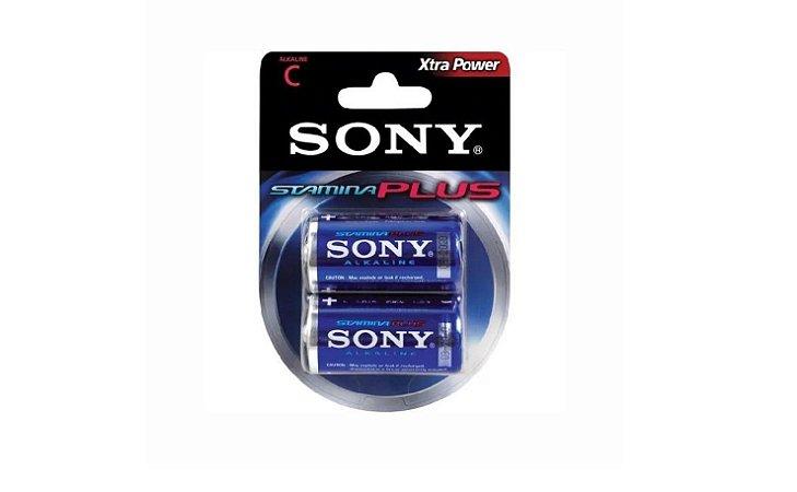 Pilha Alcalina Stamina Plus C C/2 - Sony