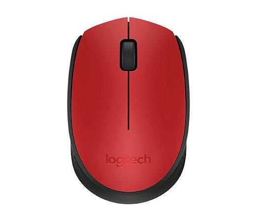 Mouse Wireless Logitech M170 Óptico Vermelho - Logitech