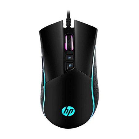 Mouse Gamer HP Usb 4800Dpi Rgb M220 Preto - HP