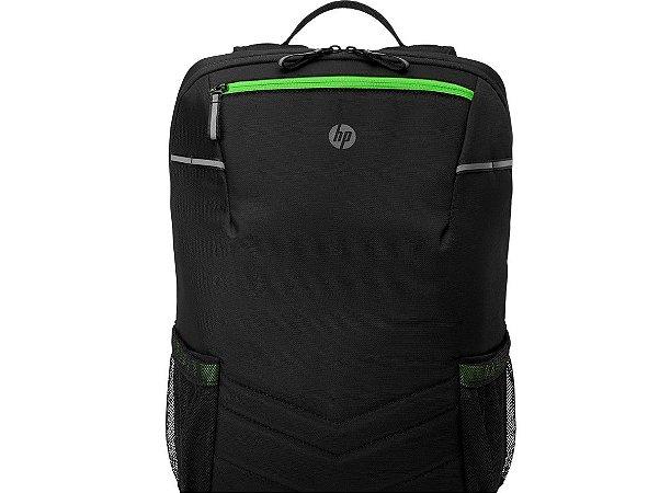 """Mochila Gamer HP Pavilion 300 6EU56AA - para Notebooks de até 17""""  Preta/verde - HP"""