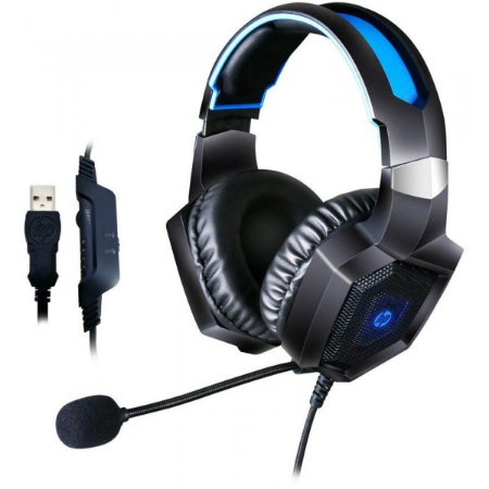 Headset Gamer Usb H320GS Surround Led Blue - HP